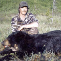 Client with black bear