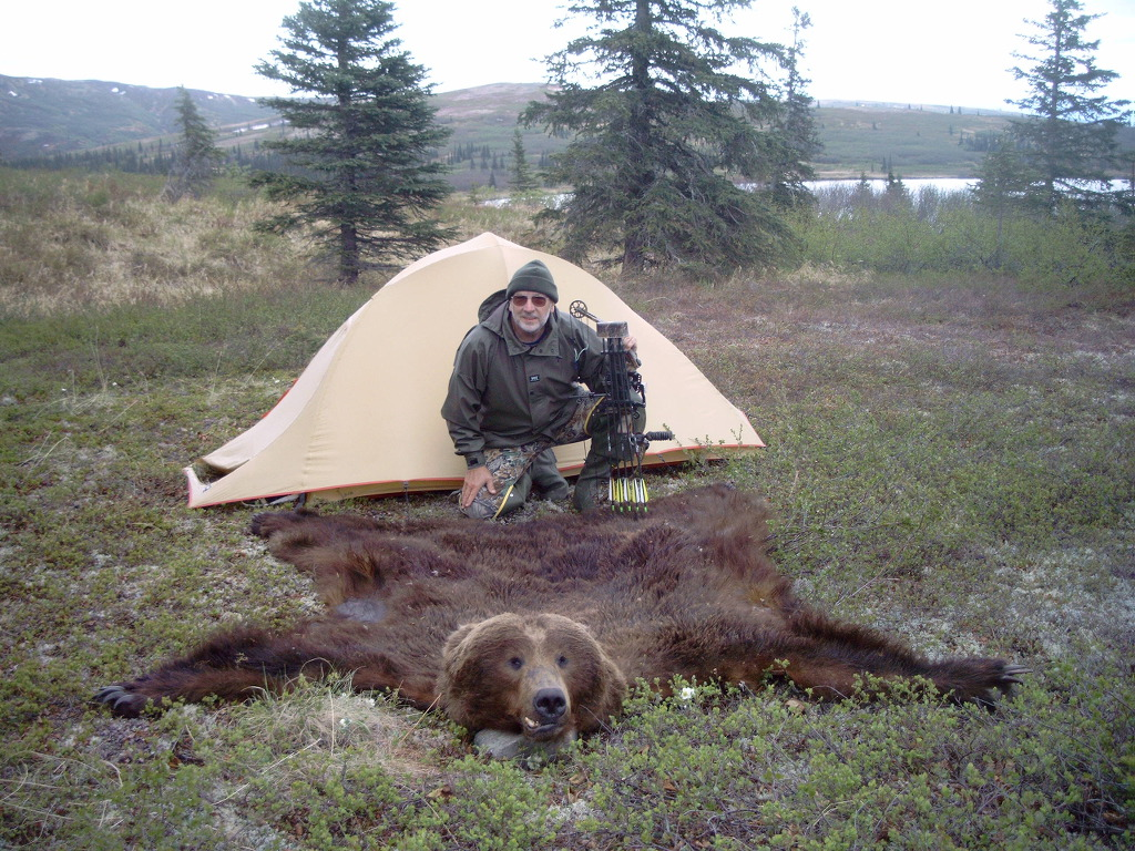 hunting Grizzly bear skin