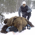 Client with Trophy bear